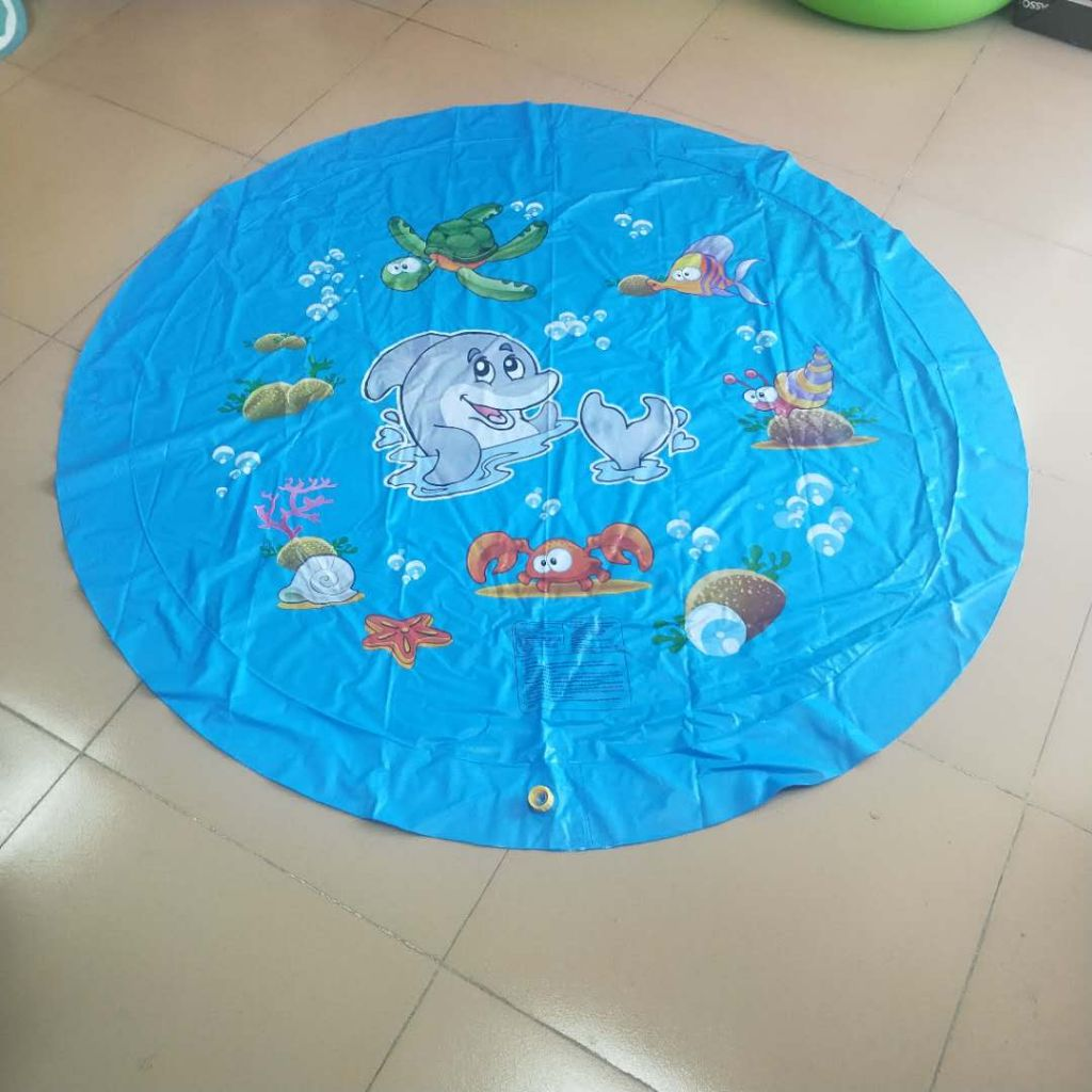 Manufacturer's Amazon inflatable water spray mat children's outdoor water mat baby toy water mat