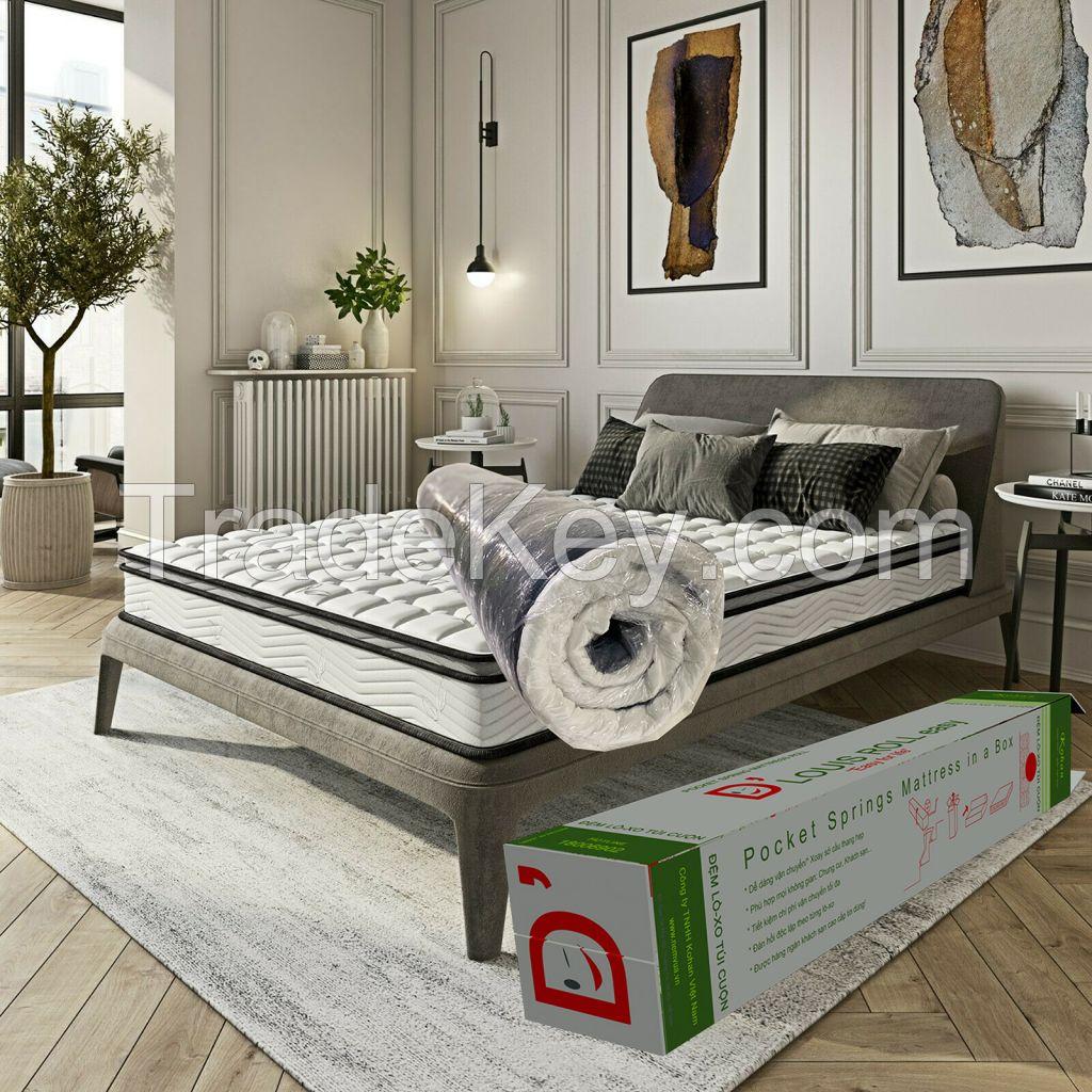 Vietnam roll packed pocket spring mattress