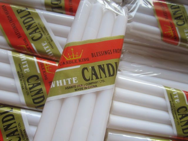 pure white pillar shape candles for daily use