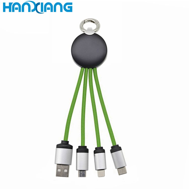 For Iphone Adapter 4 in 1 USB Data Cable USB Charger Mobile Phone Charging Cables