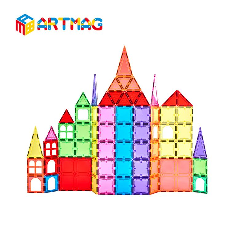 Cheap toys Supplier 2019 New design 100pcs Educational toys baby ABS food grade type plastic magnetic toys