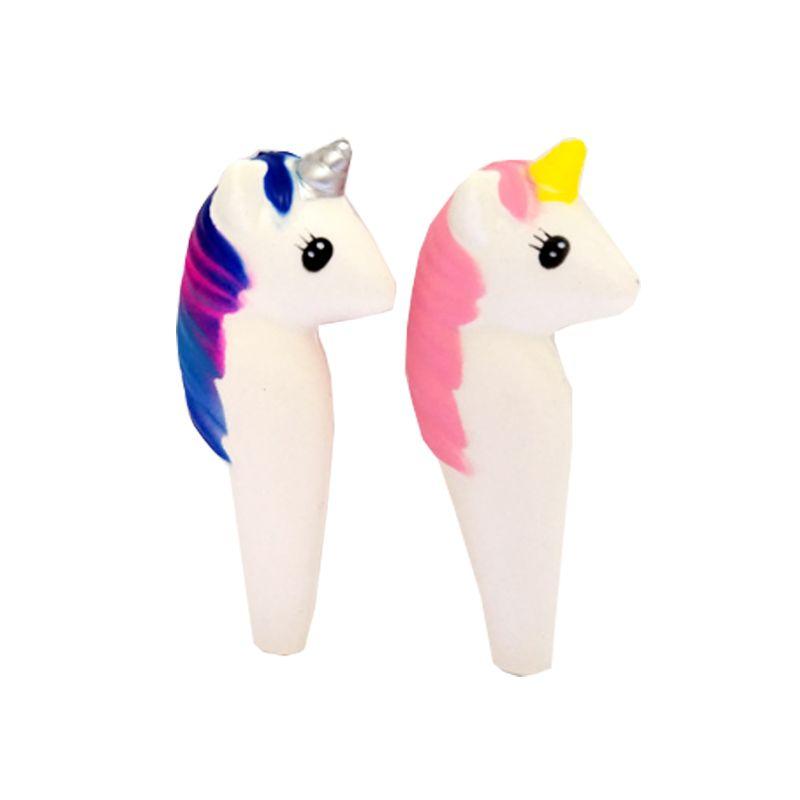 Competitive price factory direct PU squishy foam cartoon horse gel pen unicorn pen unicorn stationary