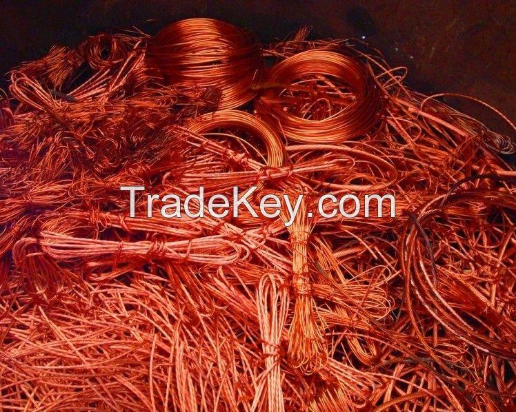 Red Copper Wire Scrap 99.9%