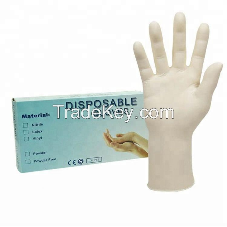 Disposable latex surgical/exam gloves, medical vinyl glove