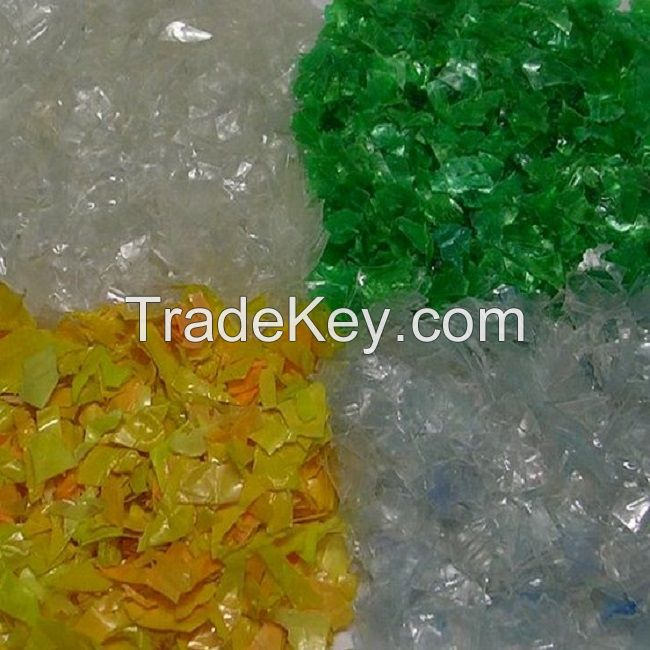 clear PET bottle scrap / PET flakes /recycled PET Resin Factory