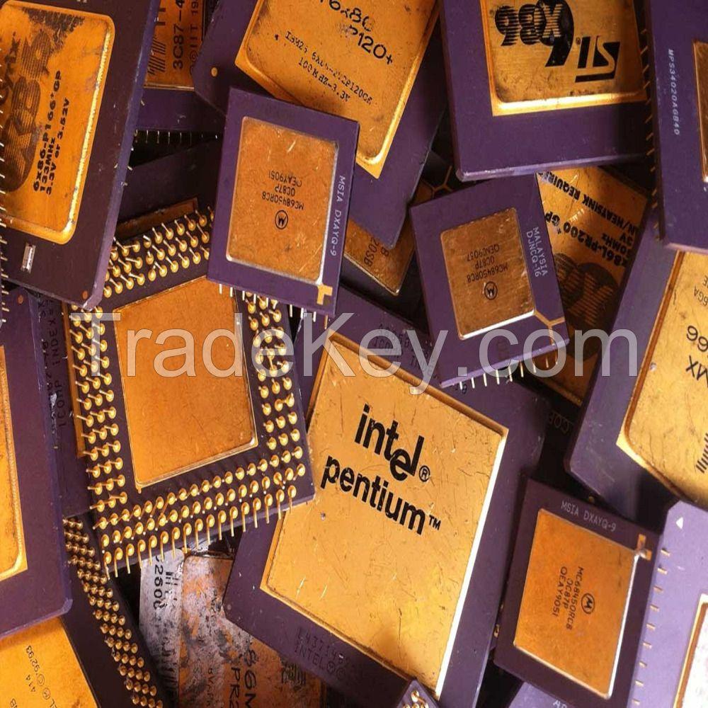 Gold Ceramic CPU Scrap