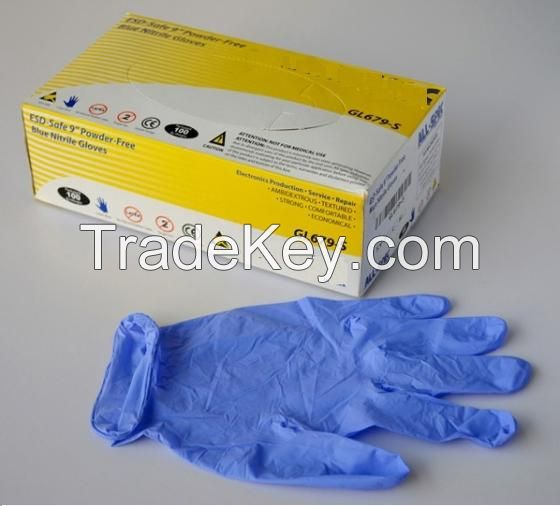 Disposable Nitrile Gloves / Nirtirle-Powder-Free-Medical-Gloves