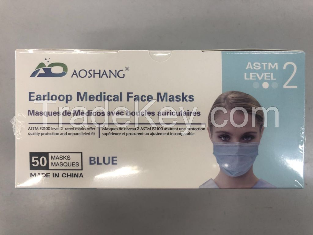 ASTM Level2 Face Mask , AAMI Level 2 Disposable gowns