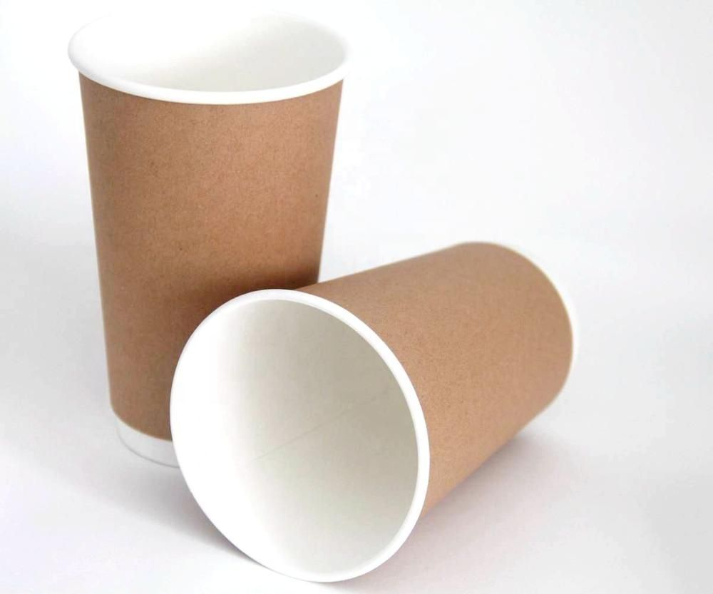 GN Great Nature 16oz 500ml double wall brown kraft paper coffee carton cup