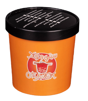 16oz cheap disposable custom printed paper soup cups with paper lids