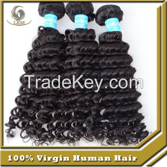 Top Quality Unprocessed 100% Human Hair Natural Hair Brazilian Curly Hair Extensions