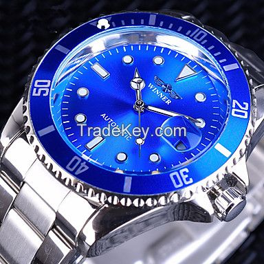 Men's Mechanical Watch Automatic self-winding Formal Style Stylish Luxury Water Resistant / Waterproof Stainless Steel Silver Analog - Black Black / Red Blue / Calendar / date / day