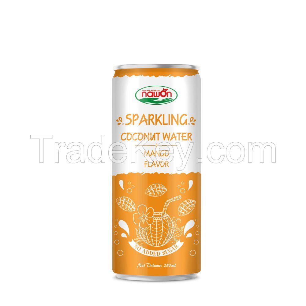 250ml Sparkling coconut water mango flavor