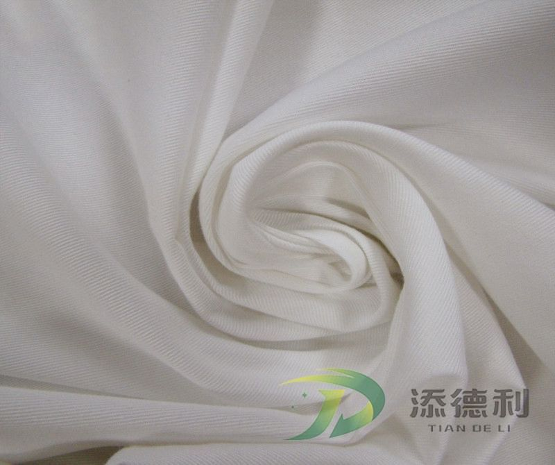 cotton twill bleached fabric
