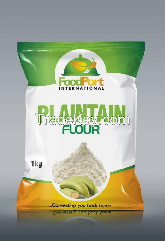 Oloyin beans, ijebu garri, plaintain flour, beans flour, pap