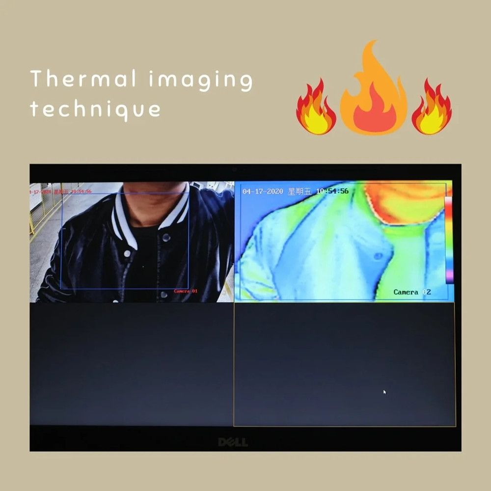 Walkthrough Metal Detector with Infrared Thermometer
