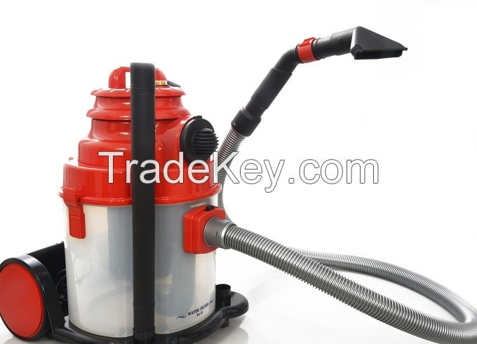 Wet / Dry vacuum cleaner with water filtration and blowing function