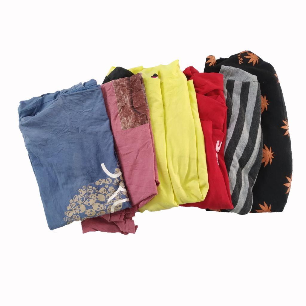 dark color mixed t shirt cotton rags Grade B