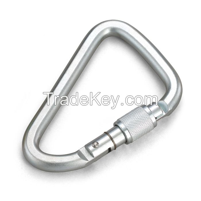 Steel Carabiner with Pin Added of Safety Webbing Lanyard