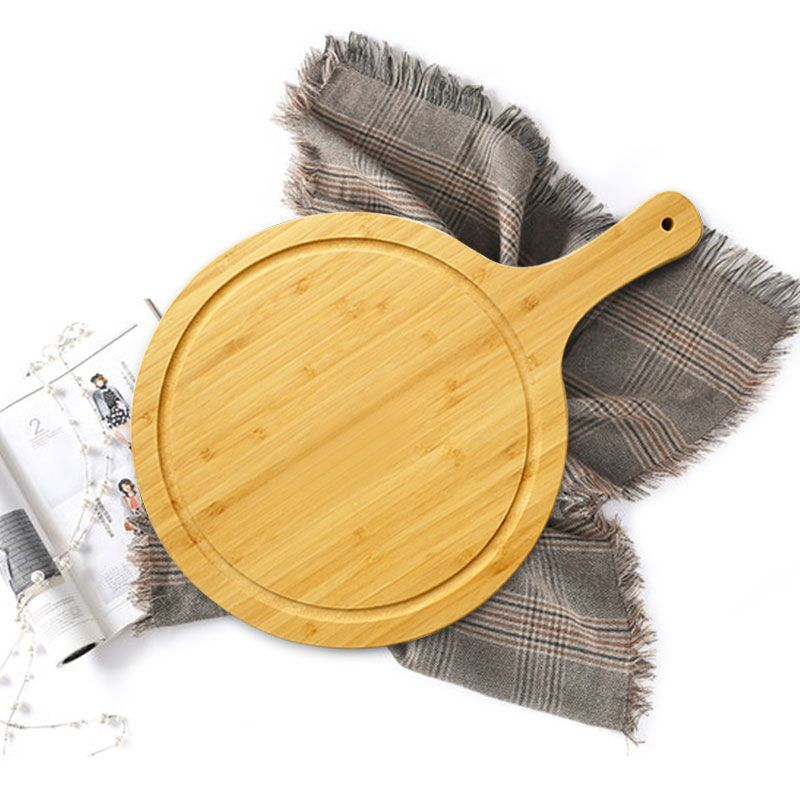Multifunctional bamboo chopping board kitchen tool chopping board can be used to cut cheese, pizza, bread and vegetables