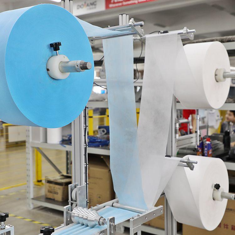 face mask machine NBL4800 high speed good quality NBL-4800 máquina de mascarillas planas de alta velocidad (1+1)