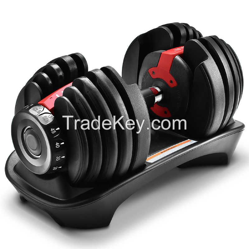Adjustable Black Gym Fitness Dumbbell Sets for Home Office Use