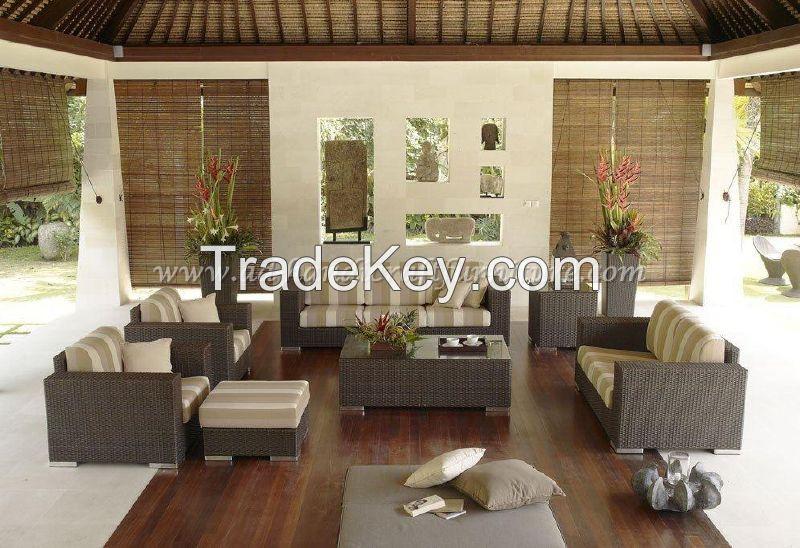 Wicker Furniture: Poly rattan sofa set   PRSF-085