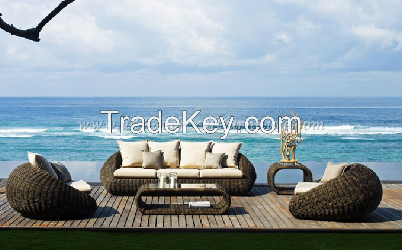 Wicker Furniture: Poly rattan sofa set   PRSF-086