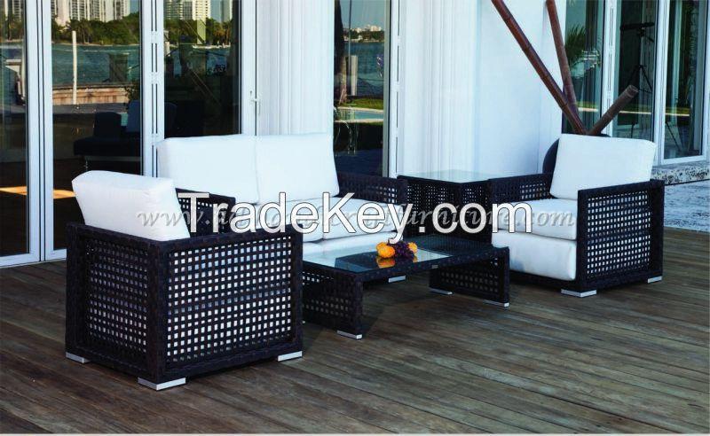 Wicker Furniture: Poly rattan sofa set   PRSF-082