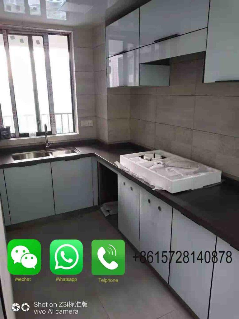 Custom Made Artificial Marble Kitchen Countertop, Bathroom Countertop On Sale