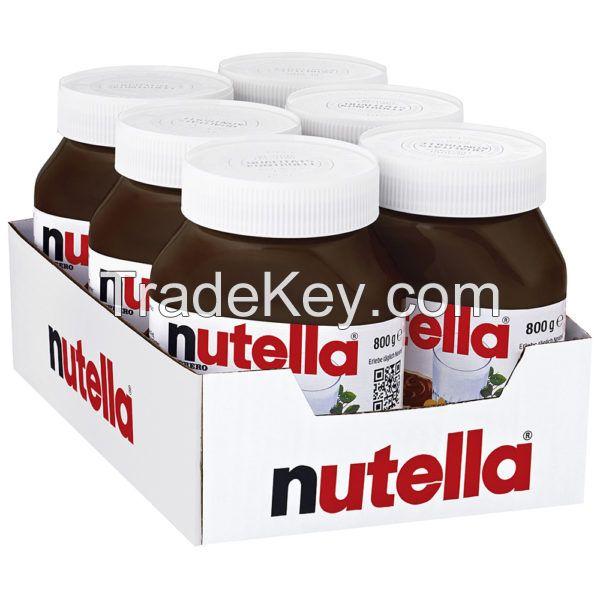 Ferrero Nutella Chocolate Spread in jars 350g, 400g, 600g, 750,800gr, 1kg and 5kg.