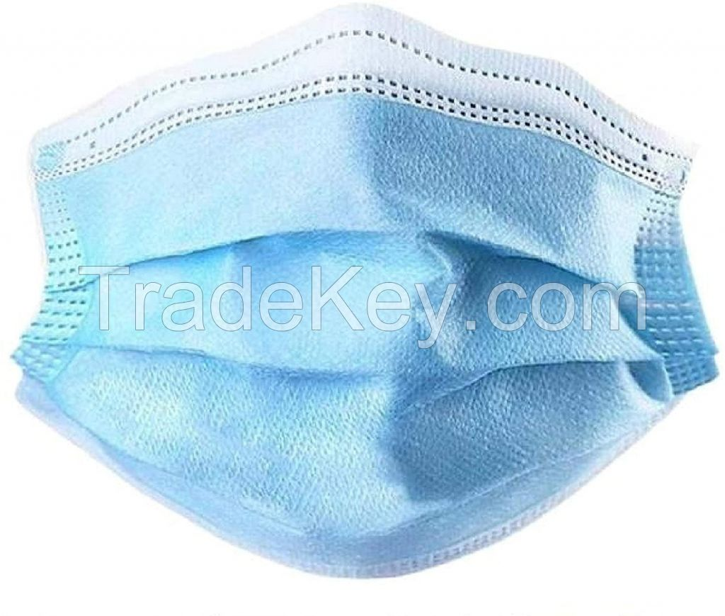 Disposable 3 Ply PP Face Mask With tie-on and ear loop.
