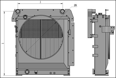 cooler used in Excavator (water 80KW oil 71KW Intercooler 29KW)