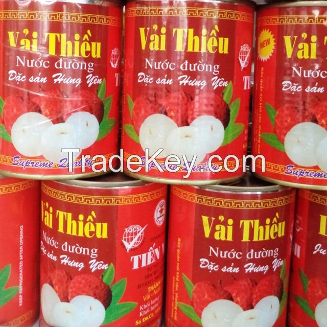 Canned lychee