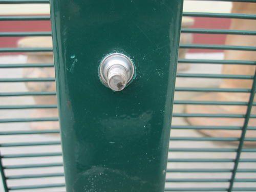 Galvanized anti-climb fence