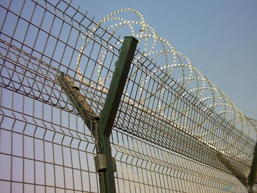 Airport 3d curved welded wire fence