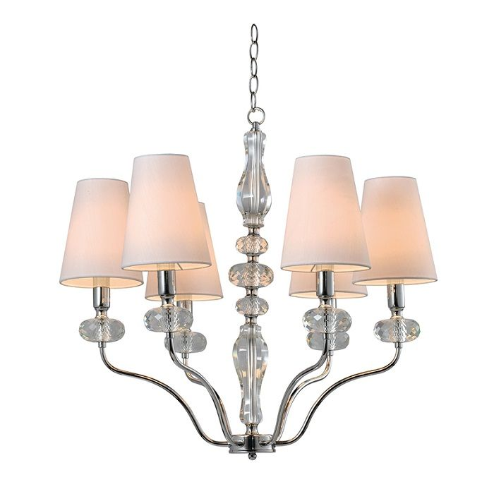 Clear K9 Crystal Chandelier NC1241P-6CR