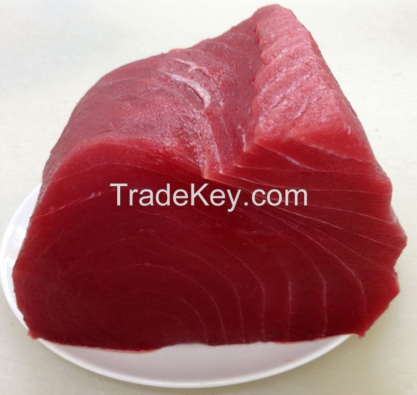 Ahi Yellowfin Tuna Fish Loin Wild Caught Frozen 10 lb., Steaked