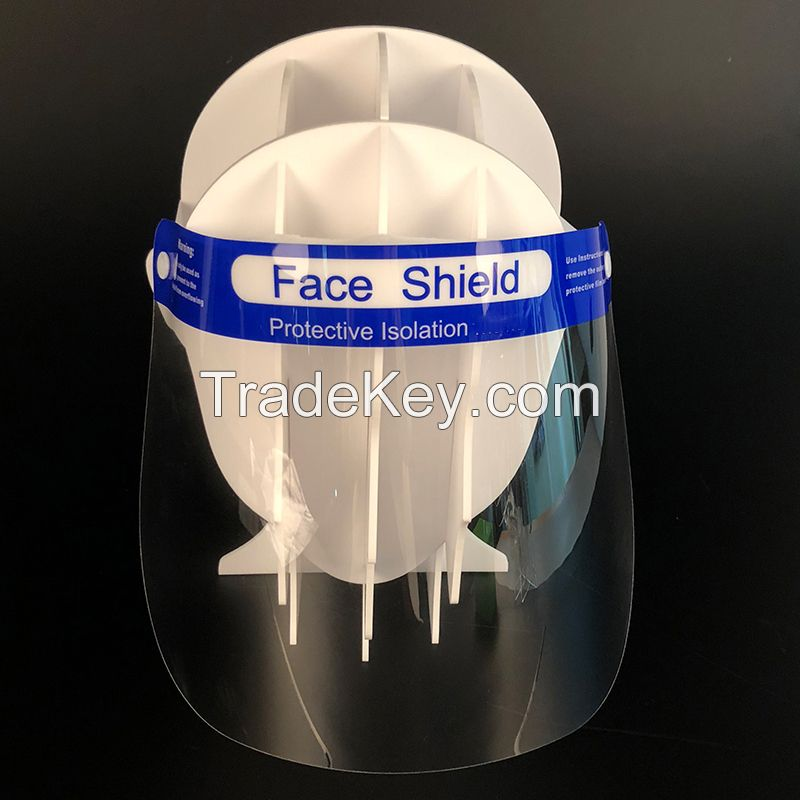 Stock Cheap Price FDA Plastic Clear Dental Protective Visors Full Transparent Face Shield