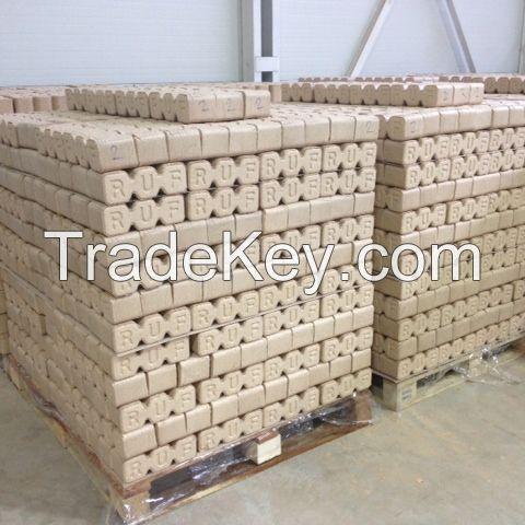 100% Wood Briquettes Low Ash High Density