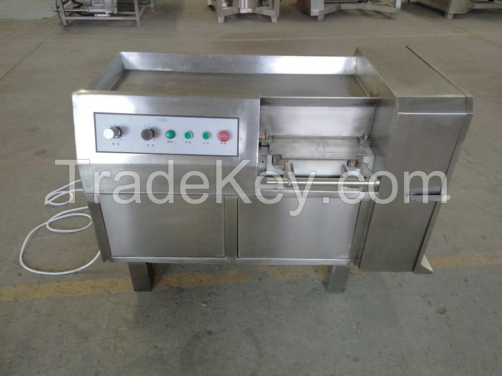 Electric meat dicer machine easy operation meat cube cutting machine price