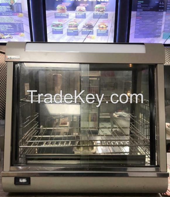 Infernus Heated Display Cabinet Food /Pie/Chicken Warmer Showcase-600