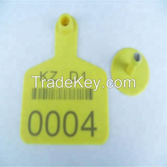 Plastic Ear tag Pig Cow Cattle Sheep Goat Dog and Rabbit TPU Ear Tag