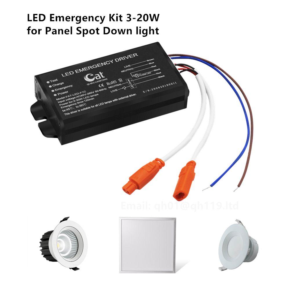 Direct Source LED Emergency Driver 3-20W for Panel Light, Down Light, Spot Light