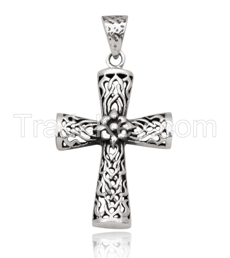 Silver Cross Pendent - Sterling Silver Pendent - 925 Silver pendent Custom Pendent