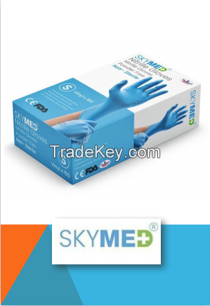 SKYMED - NITRILE POWDER FREE EXAMINATION GLOVES
