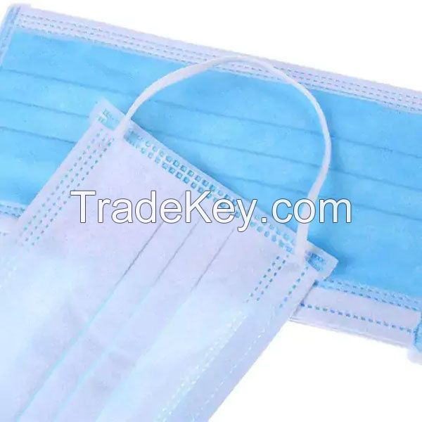 non-sterile mask surgical medical 3 ply face mask in stock