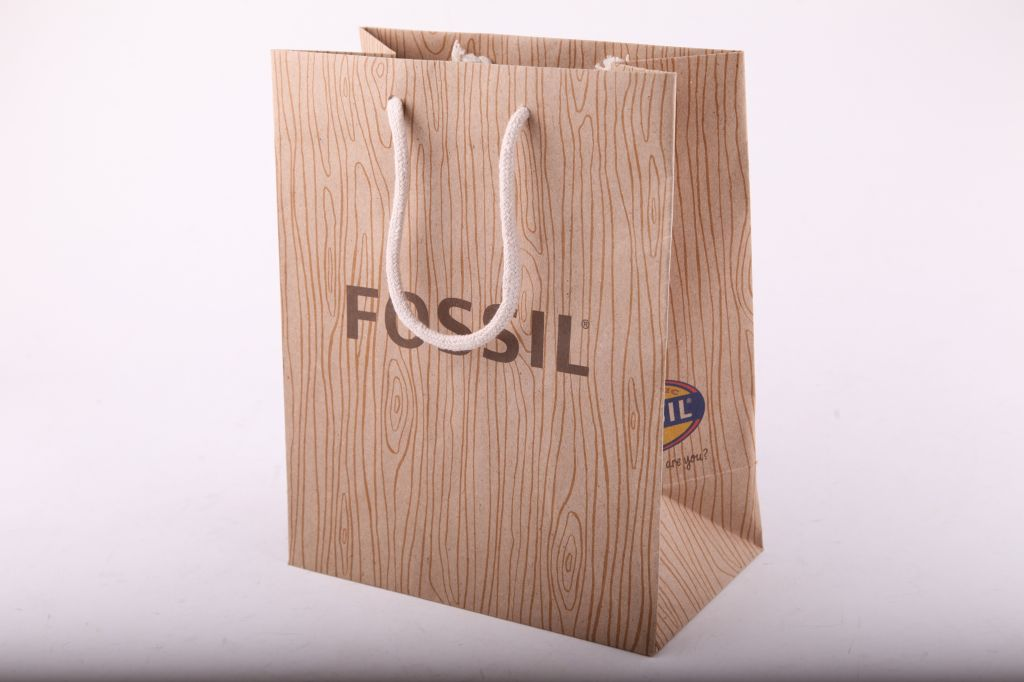 luxurious custom high quality printed kraft paper bag with handle
