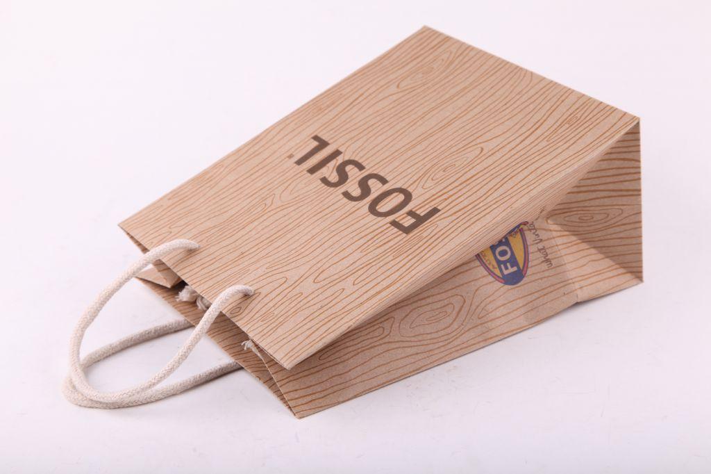 luxurious custom high quality printed kraft paper bag with handle