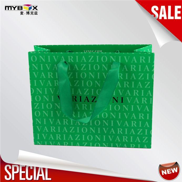 custom logo printed art paper bag with handle(4)
